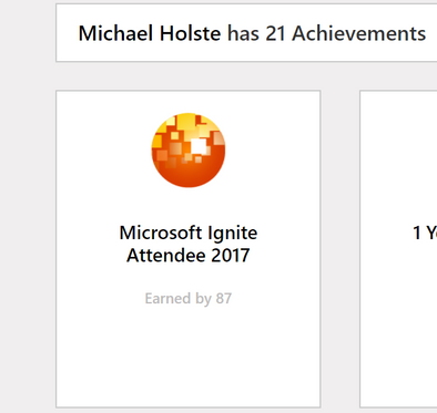 The Microsoft Ignite Attendee 2017 badge