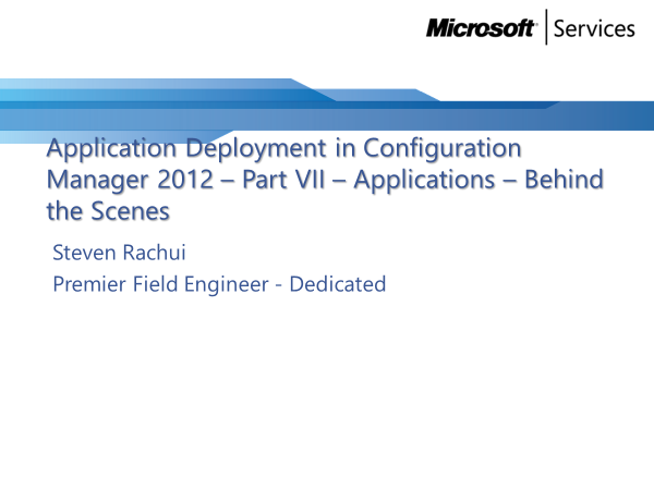 Video Tutorial: Applications behind the scenes - Application Deployment Part 7
