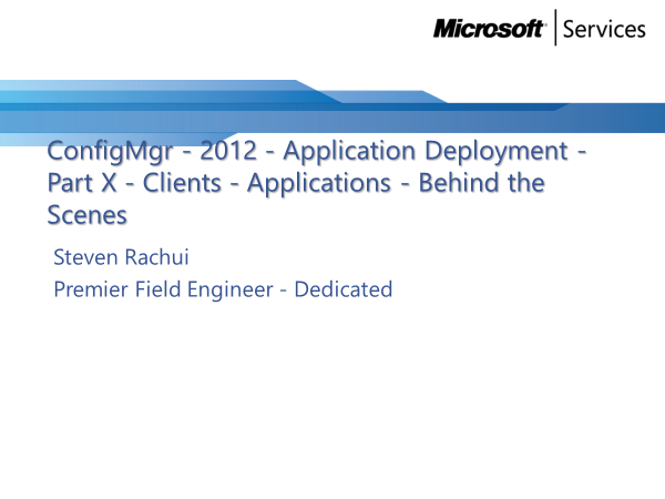 Video Tutorial: Clients and Applications Behind the Scenes - Application Deployment Part 10