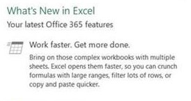 Excel O365 performance improvements in September
