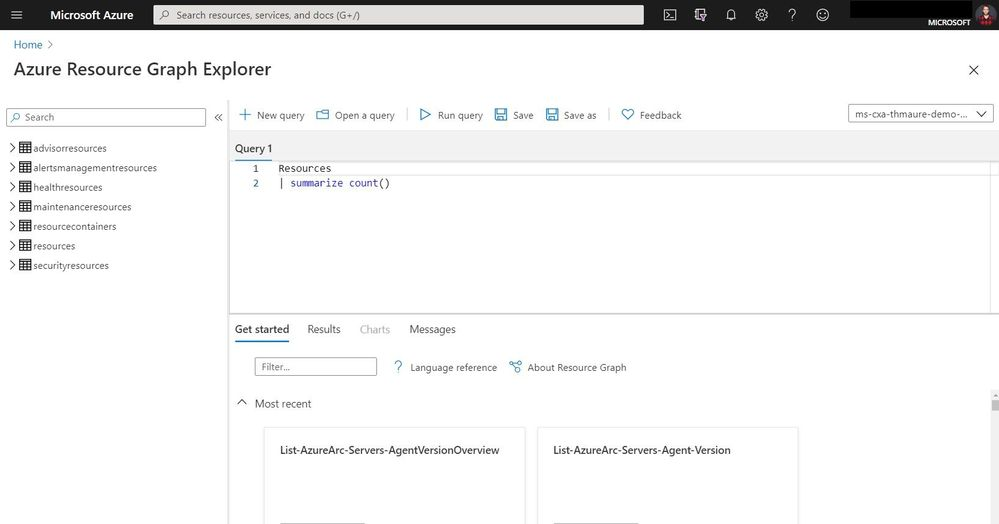 Azure Resource Graph Explorer Query using a Link