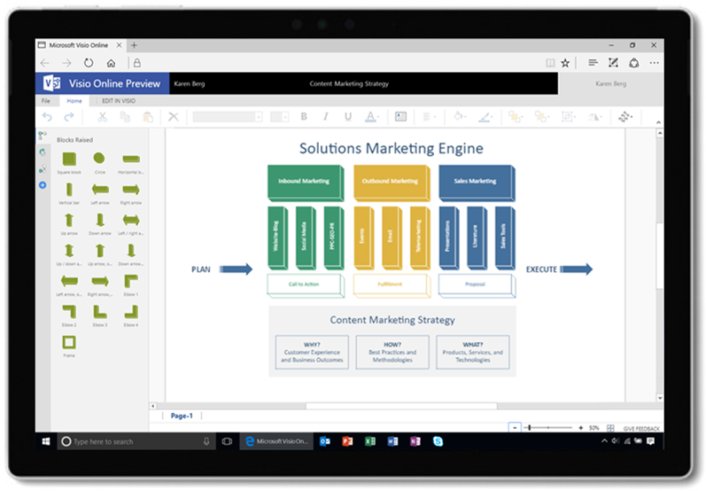 Visio Online Public Preview Updates Easily Create Diagrams Online