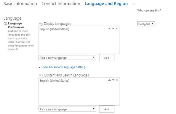 Office 365 admin center language - Microsoft Tech Community - 106638