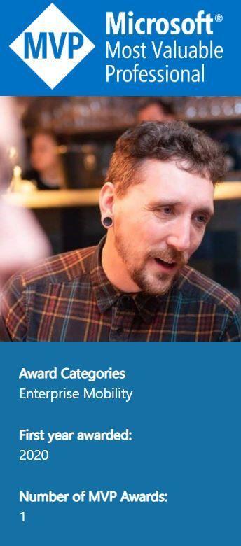 FY20 Q4 Most Valuable Mentor award winner - Tim Hermie