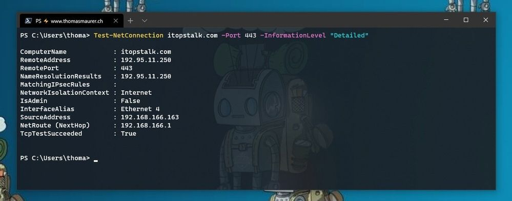 Test TCP Port using PowerShell
