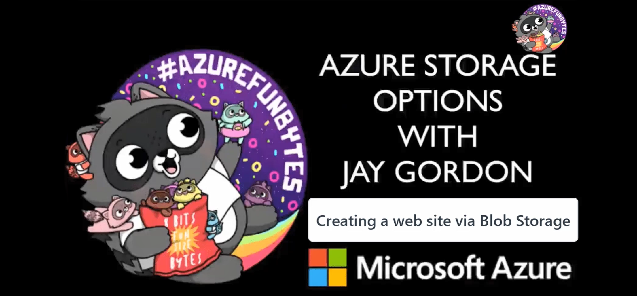 Azure Mini Fun Bytes: How to create a static web site using blob storage