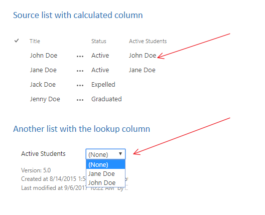 Is it possible to filter a lookup column using a specific