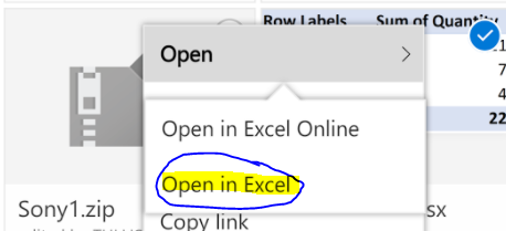 Sharing in Excel Online in OneDrive - Pivot table slicers