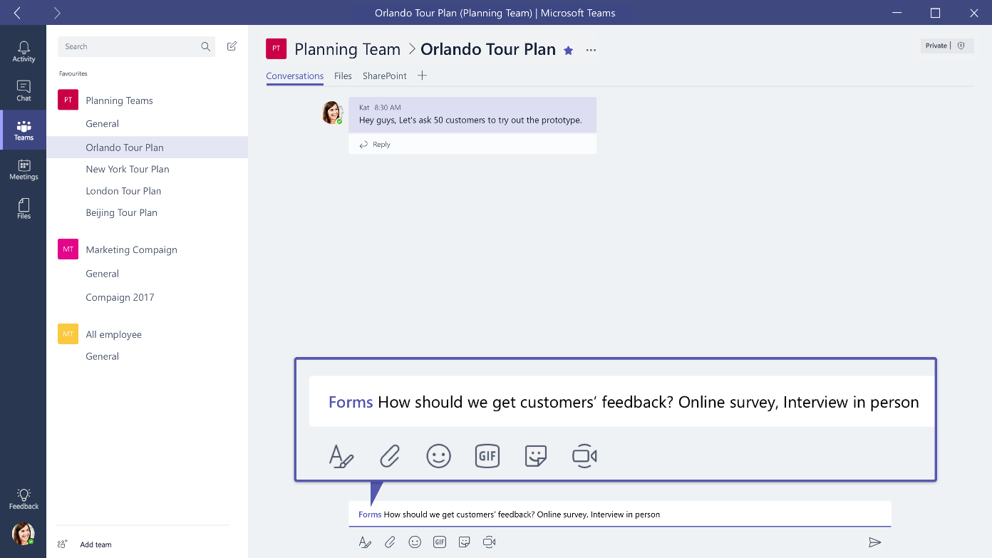 Microsoft Forms works great with Microsoft Teams - Microsoft