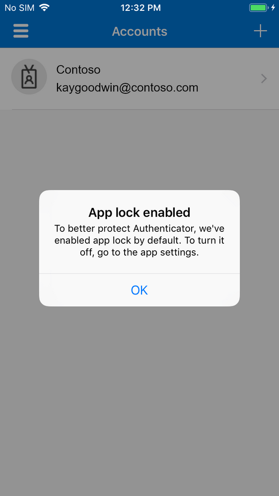 Microsoft Authenticator app lock now enabled by default