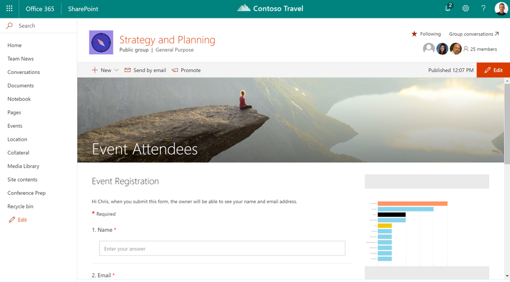 Microsoft Forms and Power BI on SharePoint