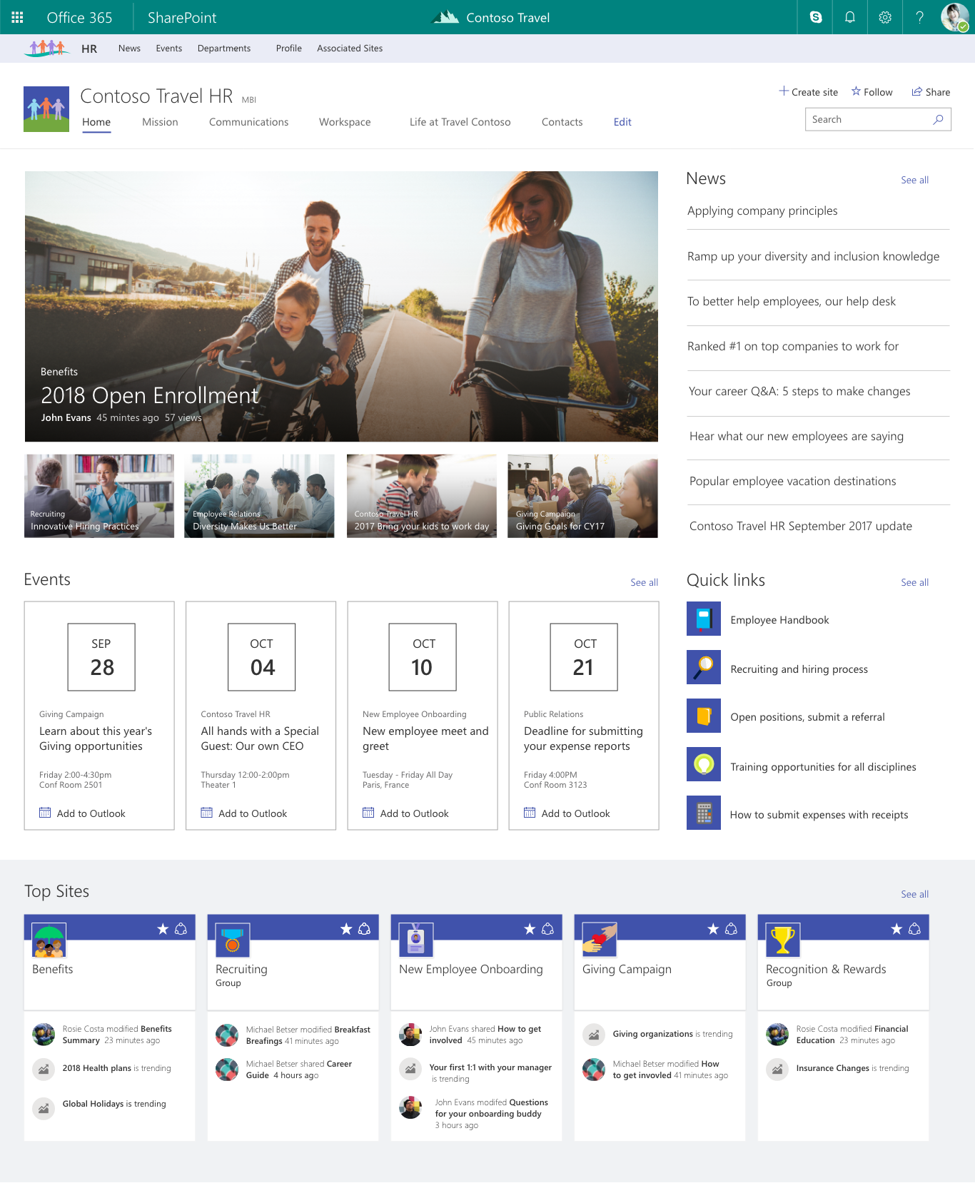 Best Info And News Site: Connecting The Modern Workplace With SharePoint And