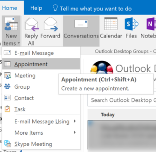 how to create a group in outlook office 365