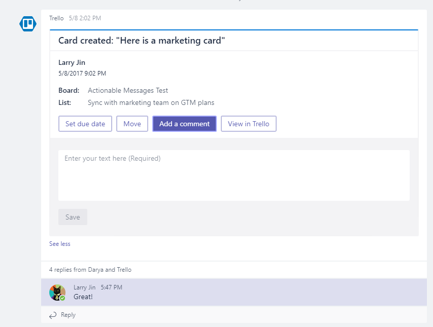 A look at Trello in Microsoft Teams