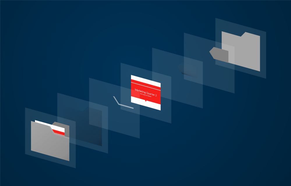 A diagram illustrates the different layers of shapes and gradients that make up our new folder and file icon design.
