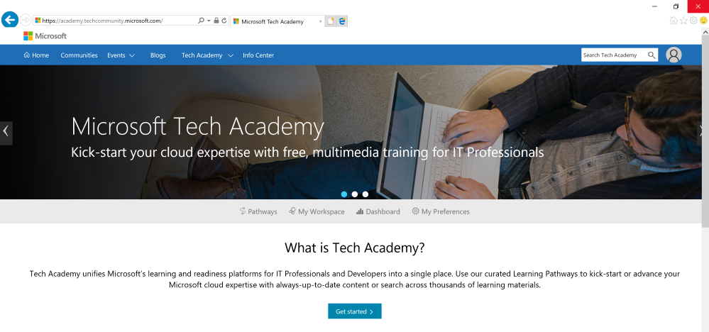 Tech Academy Front Page