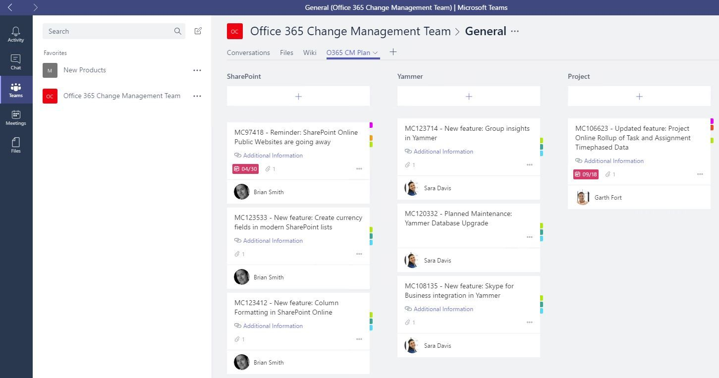 office planner. Change Management For Office 365 - Having The Conversation In Teams And Planner