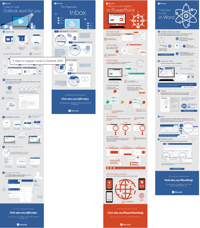 40 Free Infographic Templates To Download: Great Ways To Work With Office 2016 (Outlook, PowerPoint
