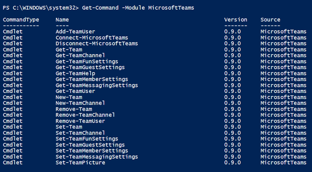 Manage Microsoft Team with PowerShell