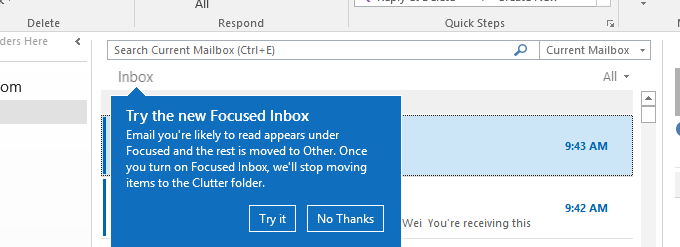 Update on Focused Inbox and our plans for Clutter