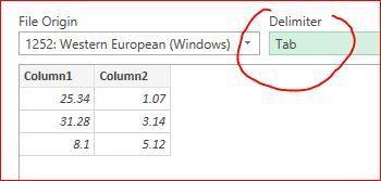 Decimal separator after CSV import - Microsoft Tech Community - 134617