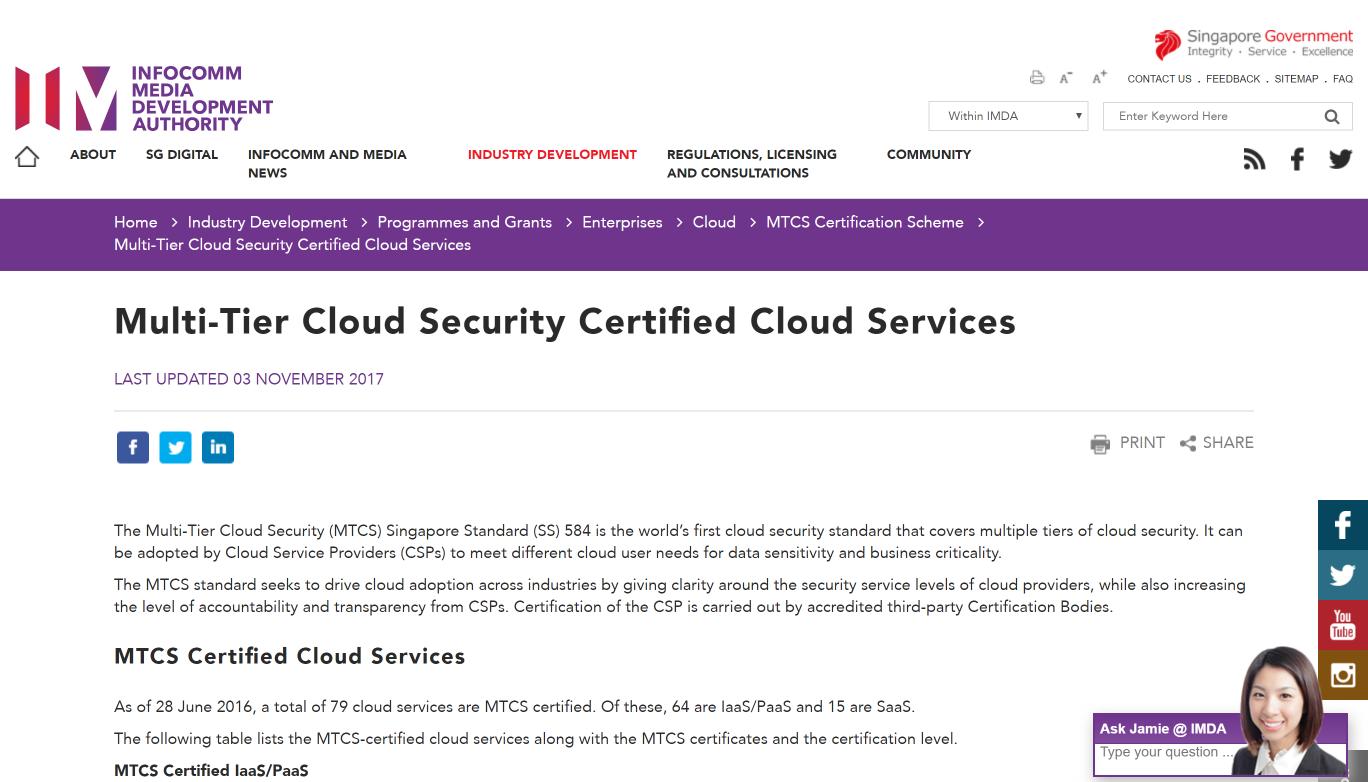 Microsoft Expands Scope Of Singapore Mtcs Certification Microsoft