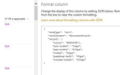 Column width resize in modern list - Microsoft Tech