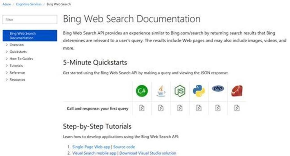 Get Started with Bing Search APIs in under 5 Minutes - Microsoft