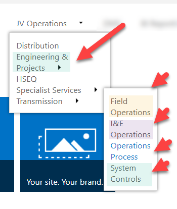 Navigation dropdown width in SP Online - Microsoft Tech