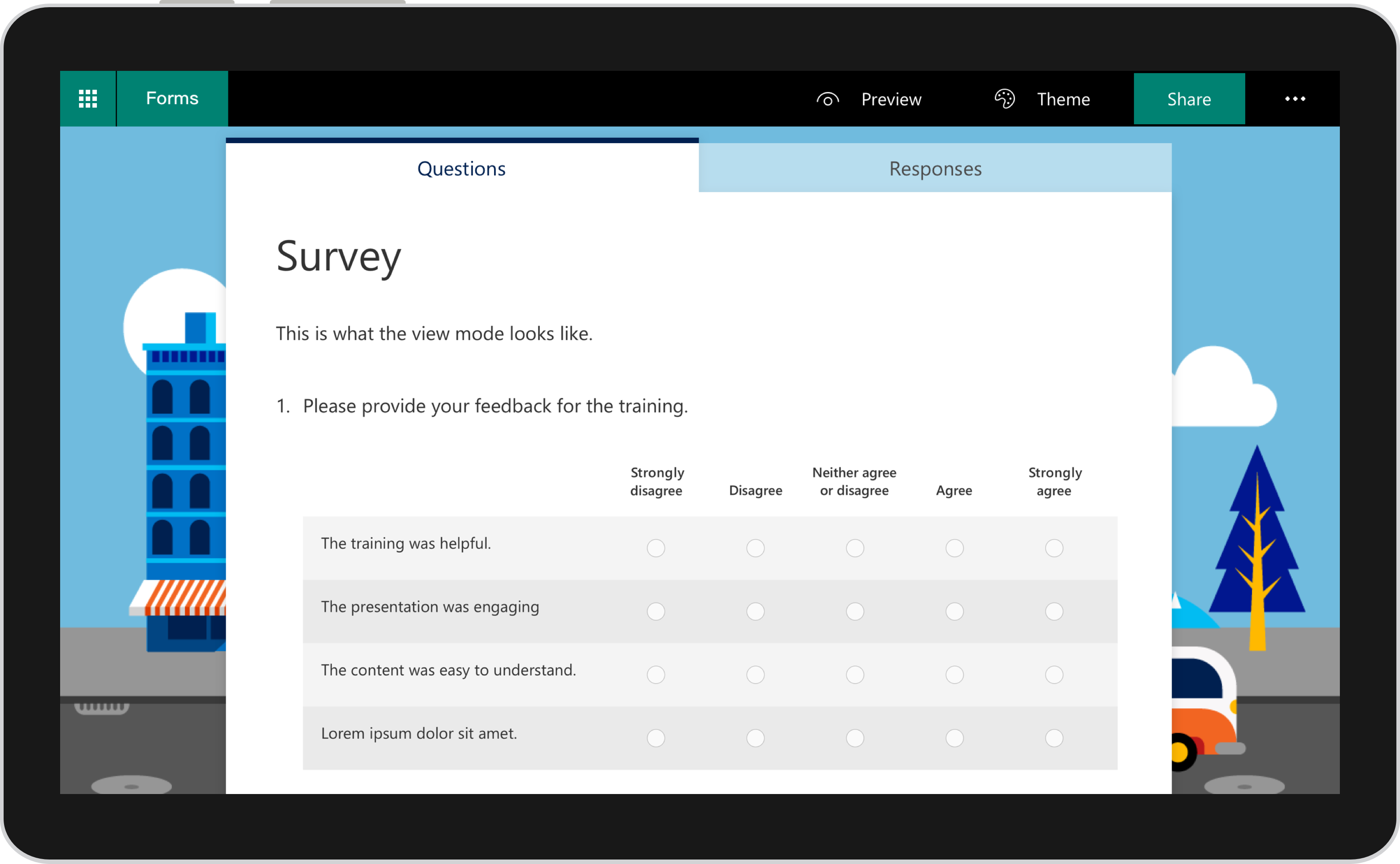Use The Likert  A New Survey Question Type In Microsoft