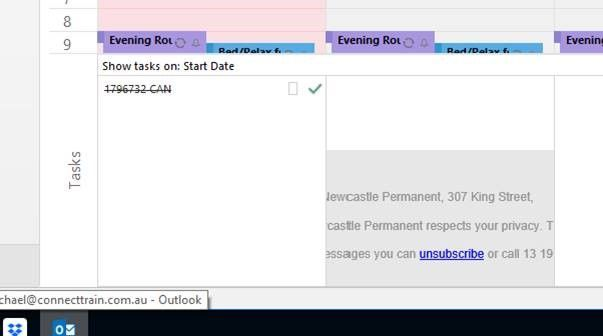 onenote outlook tasks greyed out