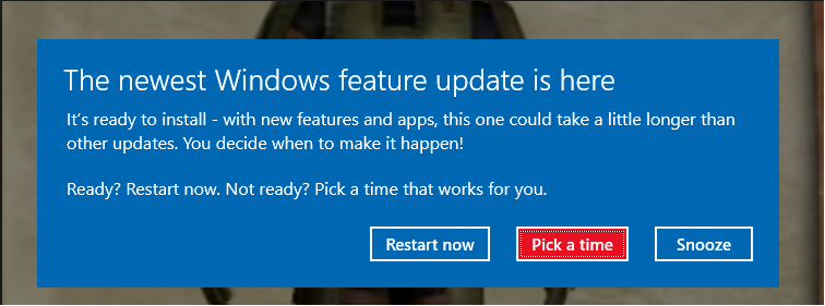 the newest windows features update is here popup