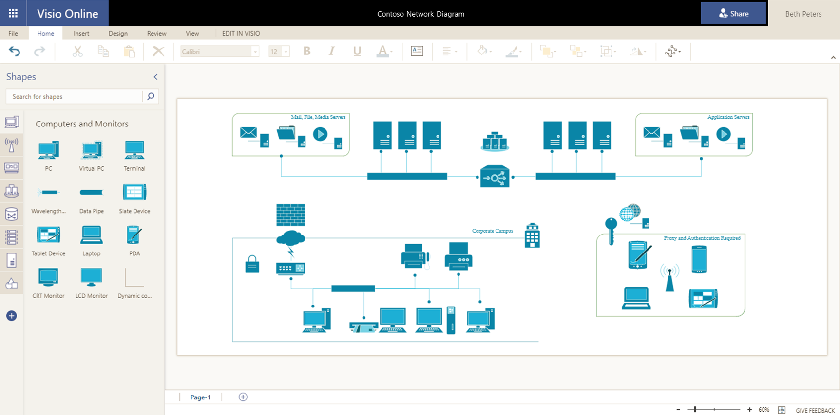 Extend Diagramming To It With Network Diagrams In Visio Online Wiring Diagram Template Microsoft Tech Community 150406