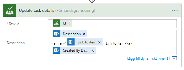 Create clickable link to item in description field - Microsoft Tech