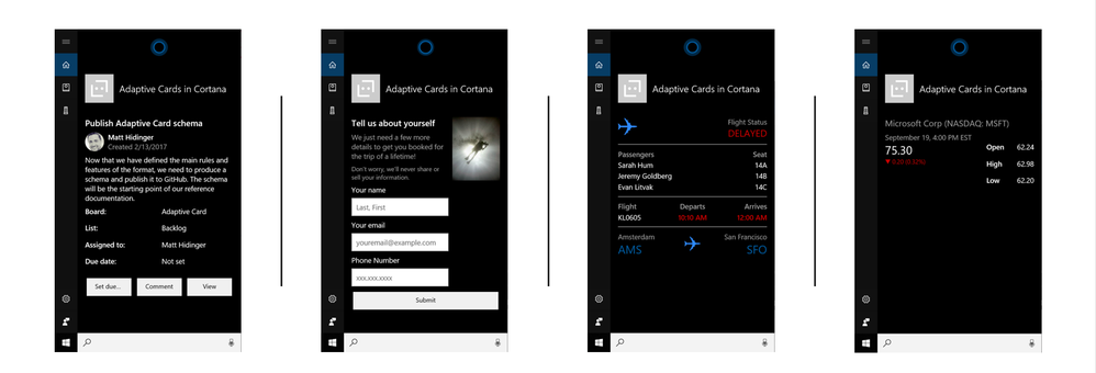 Cortana Skills now support Adaptive Cards.png
