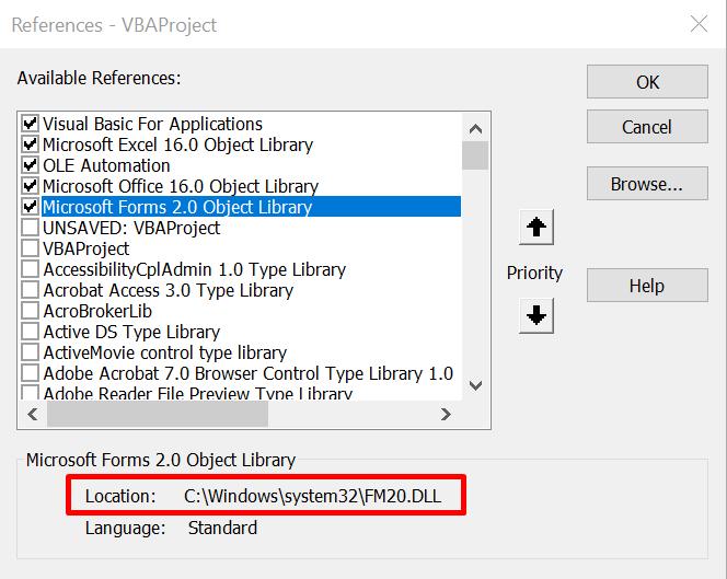 Can't add User Form in VBA project - Microsoft Tech Community - 153619