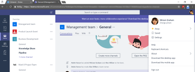 Office 365 profile picture not displayed on all services-2-Microsoft Teams.png