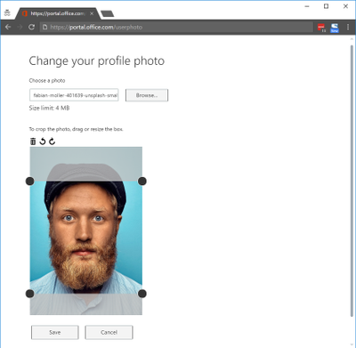 Office 365 profile picture not displayed on all services-Change using the userphoto page.png