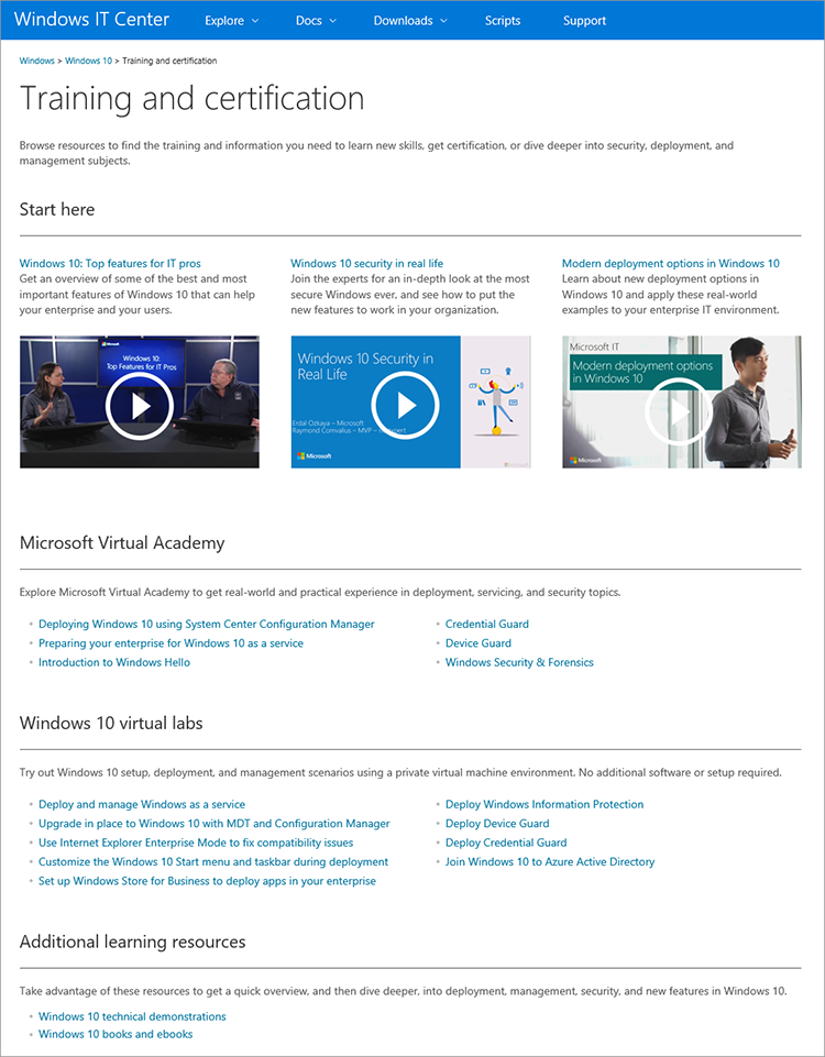 Quick Guide To Windows 10 Training And Certification For It Pros