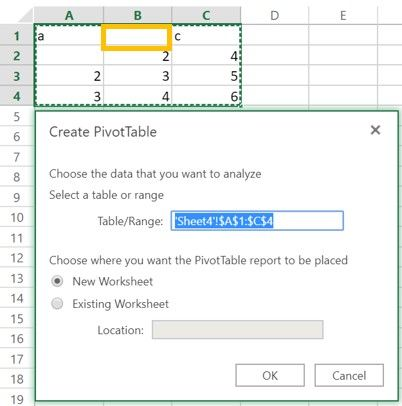 Insert new Pivot Tables in Excel Online - Microsoft Tech Community