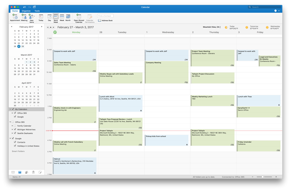 Outlook for Mac now supports Google Calendar and Contacts in Insider