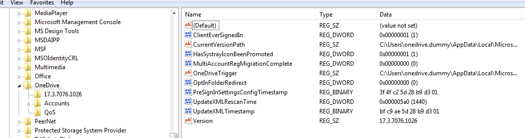 Silently configure OneDrive using Windows 10 or domain