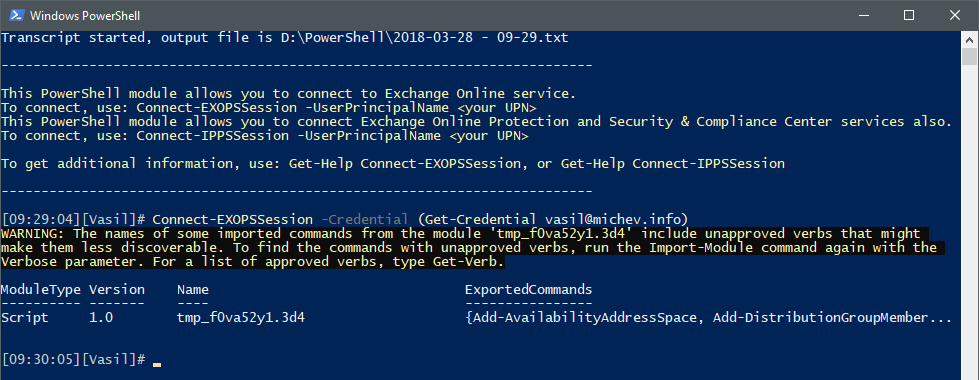 Scheduler Task Using Online Connect Mfa Powershell Exchange To dwBwPnqRS