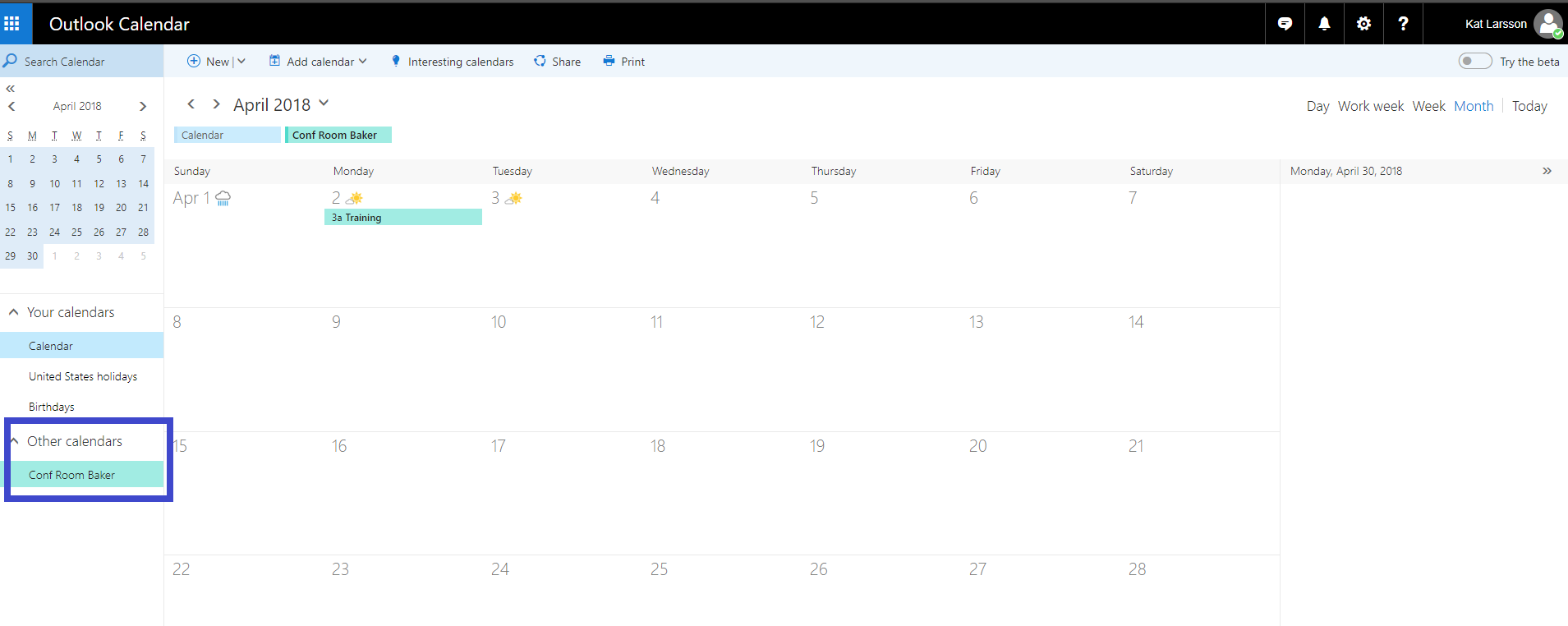 Sharing Office 365 Room's availability to external users - Microsoft
