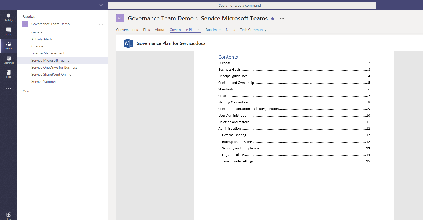 using microsoft teams to manage office 365 governance microsoft