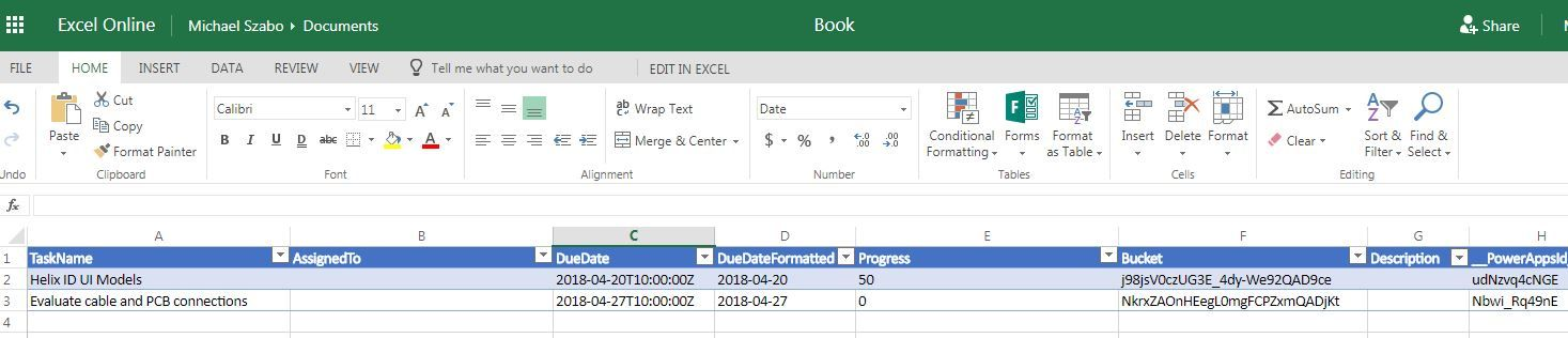how to export planner status reports in excel microsoft