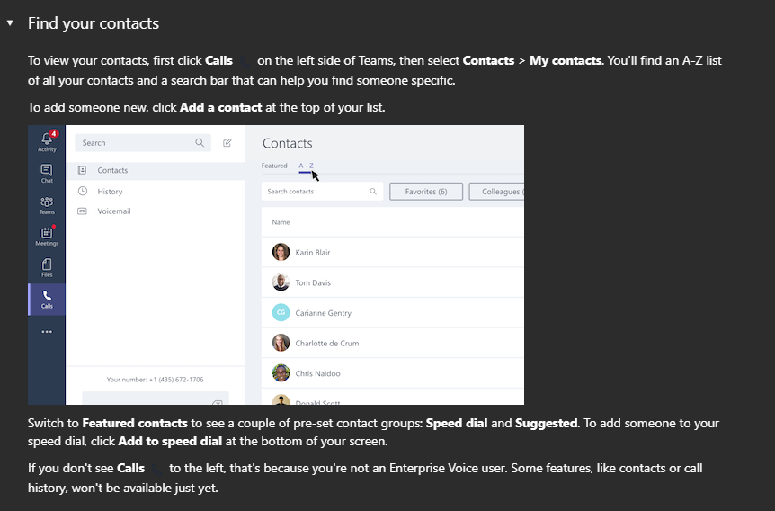 Contact List In Teams - Microsoft Tech Community