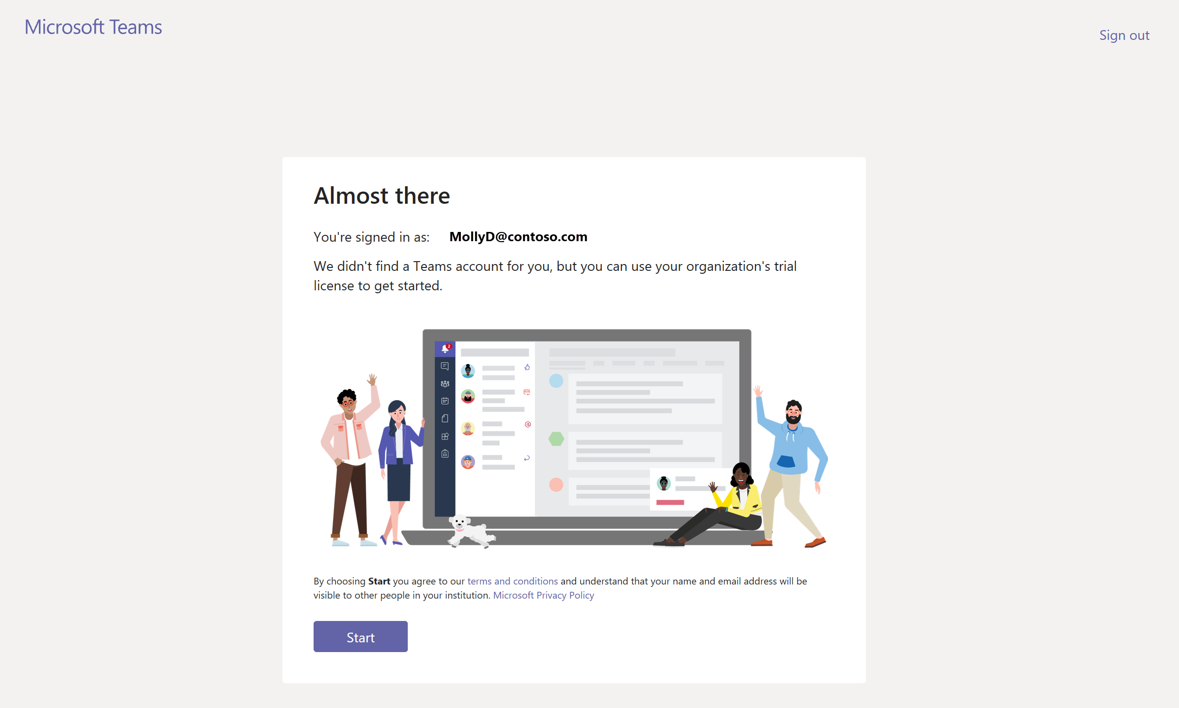 Free 1-year trial offer for Microsoft Teams