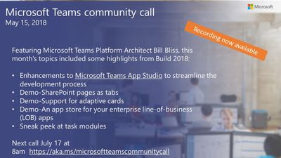 Microsoft Teams May community call recording now available