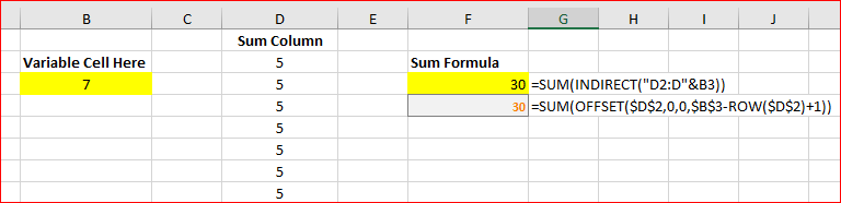 Excel with variable cell selection - Microsoft Tech